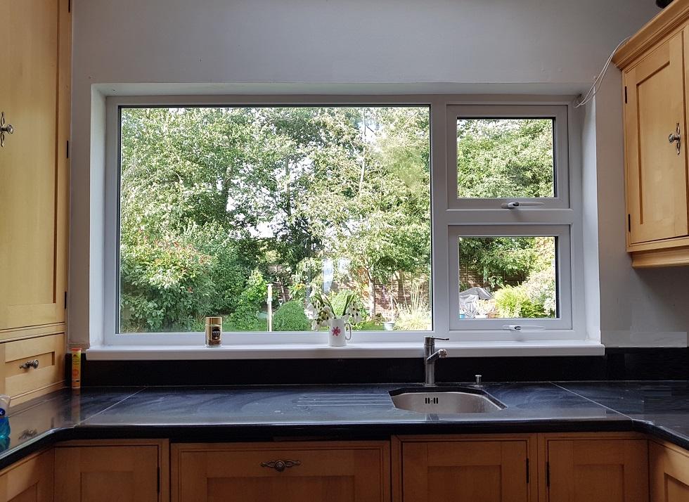 Kitchen window over worktops