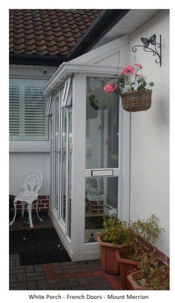 Porch with French Doors- A