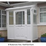 glass porch with pvc frames