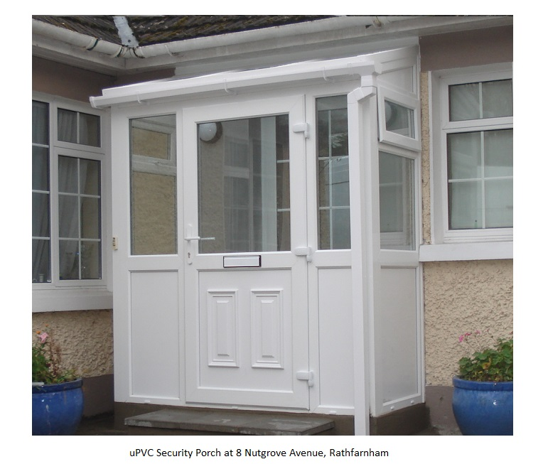 white upvc porch - 8 Nutgrove Ave - Rathfarnham