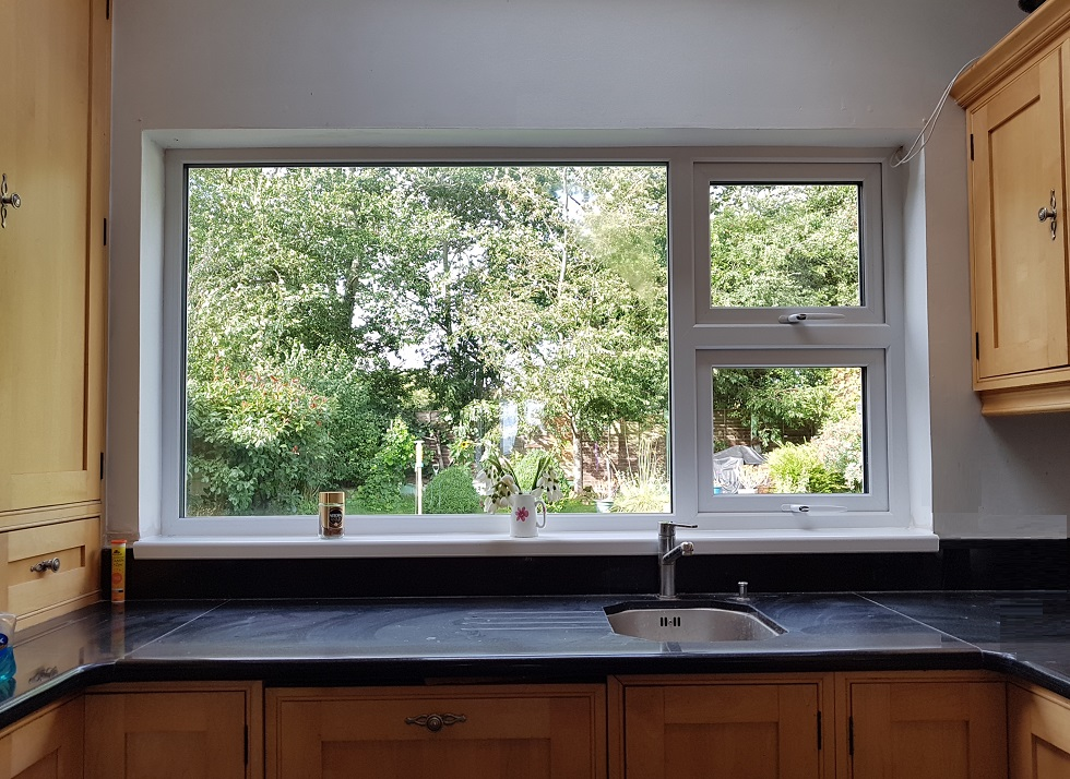 Kitchen window over worktops