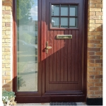 Rosewood Dublin Door with TG192 Glass