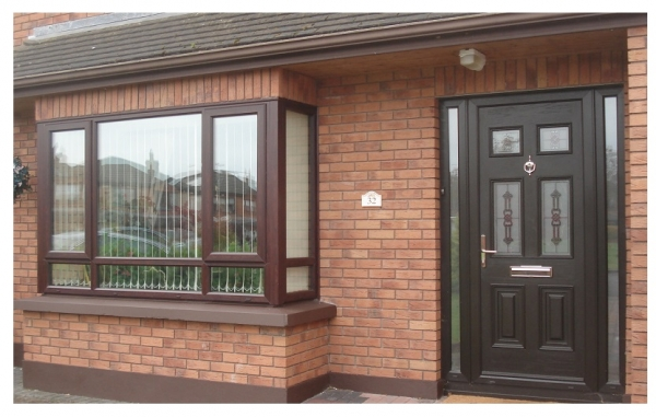 composite door in black
