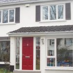 composite doors and cream windows